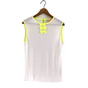 Ted Baker London Tank Sleeveless White Neon Bows